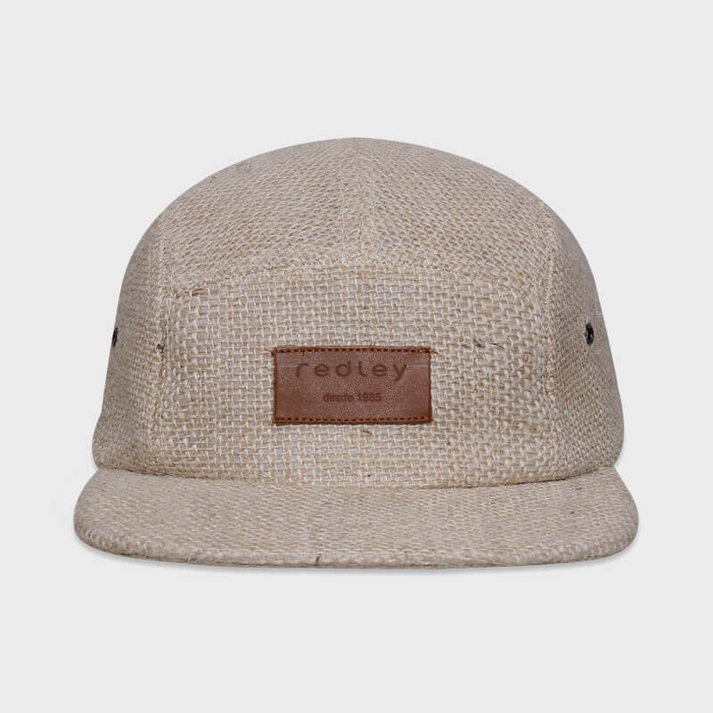 Boné five panel de estopa - Frente